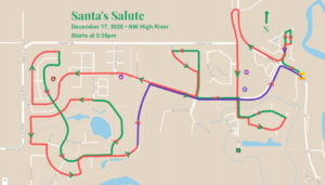 NW High River route for Santa's Salute