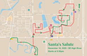 SE High River route for Santa's Salute