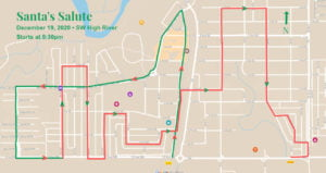 SW High River route for Santa's Salute